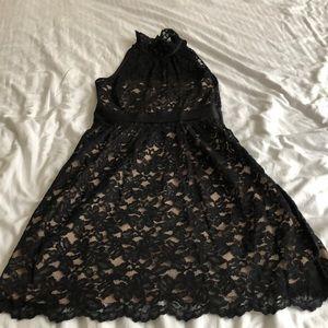 Banana Republic Black lace dress Sz 6P